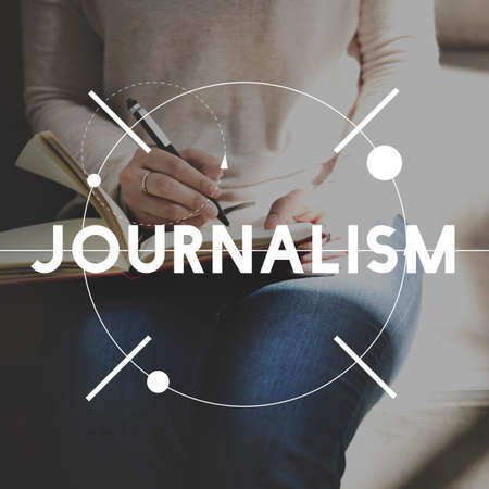 authors: Leisure Journal Journalism Ideas Express Yourself Concept Stock Photo