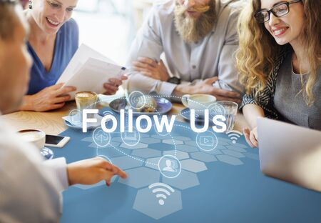 internet network: Social Network Internet Connection Technology Concept Stock Photo