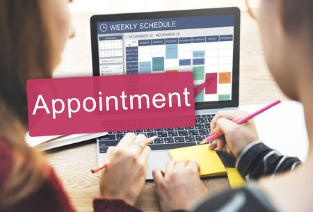 appointing: Appointment Appointing Arrangement Calendar Concept Stock Photo
