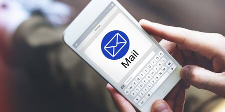 webmail: E-Mail Digital Applicaton Webpage Concept