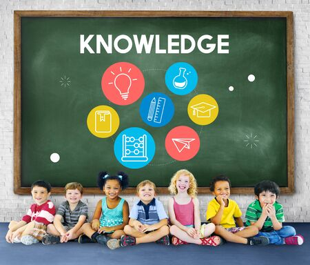 elementary age: Wisdom Learning Knowledge Class Study Concept