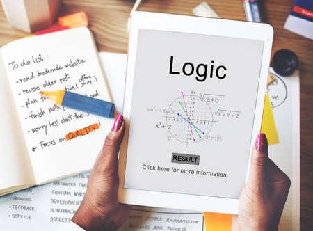 rational: Logic Intelligence Rational Reason Solution Ideas Concept Stock Photo
