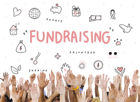 raise your hand: Fundraising Donations Charity Foundation Support Concept