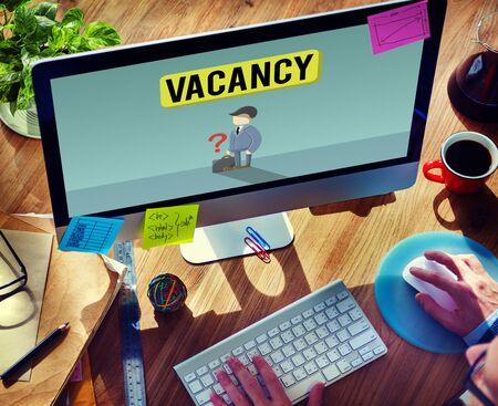 vacancy: Vacancy Career Recruitment Available Job Work Concept