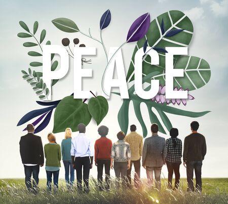 nonviolence: Peace Calm Free Nonviolence Privacy Solitude Zen Concept