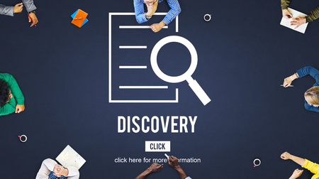 Discovery Results Analysis Investigation Concept Stock Photo