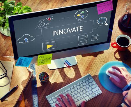Digital Technology Icons Graphic Concept Reklamní fotografie