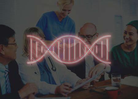 genetica: Cromosoma DNA Genetics Concetto