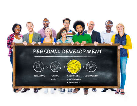 aspirations: Personal Development Improvement Progress Aspirations Concept