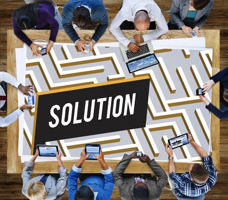 complexity: Solution Discovery Complexity Decision Concept Stock Photo
