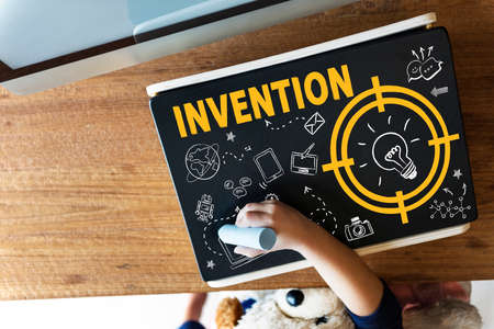 invention: Vision Thinking Progress Invention Design Graphic Concept