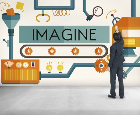 perceive: Innovation Ideas Imagine Processing System Concept