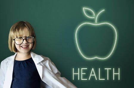 little girl eating: Health Nutrition Apple Healthy Eating Organic Concept