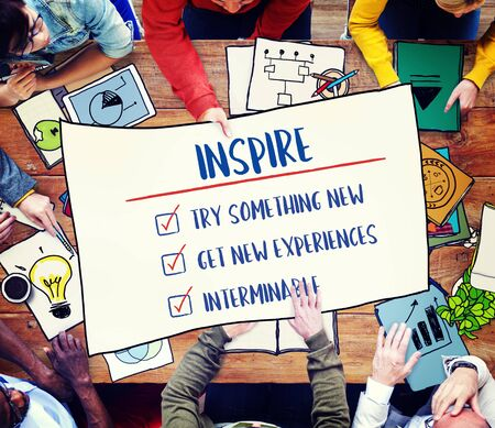 inspire: Goal Explore Aim Ambition Inspire Concept