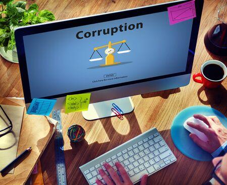 remuneraciÓn: Soborno la corrupción de trucos Concepto ilegal de dinero Finanzas
