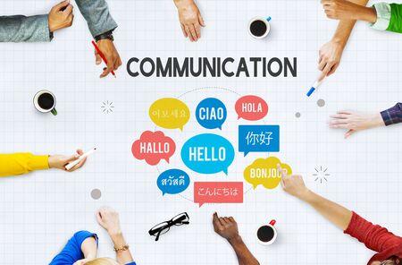 Komunikacja Języki obce Pozdrowienia Worldwide Concept