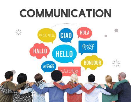 english ethnicity: Communication Foreign Languages Greeting Worldwide Concept Stock Photo