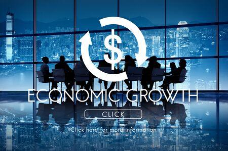 economic activity: Economic Growth Business Cycle Financial Concept Stock Photo
