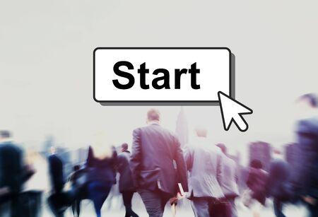 empezar: Start de arranque Begin Construir Lanzamiento Motiva Primer Concepto
