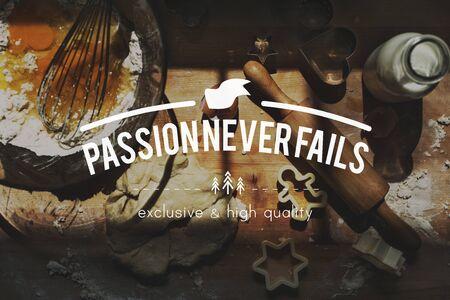 fails: Passion Never Fails Dream Energy Spirit Inspire Concept Stock Photo