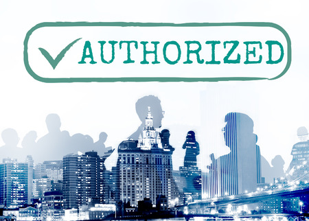 sanction: Authorized Approve Permission Sanction Graphic Concept