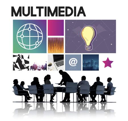 business communication: Business Team Meeting Discussion Communication Concept Stock Photo