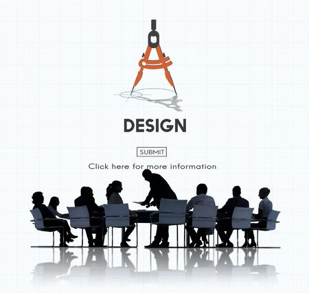 Design Compass Architecture Engineering Technology Concept Stock Photo
