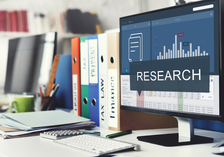 Analytics Marketing Research Business Data Vooruitgang Concept