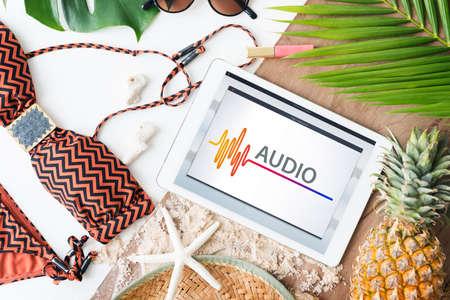 necessities: Online Music Multimedia Entertainment Sounds Concept