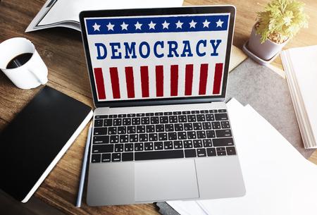 electronic survey: Politics Government Referendum Democracy Vote Concept Stock Photo