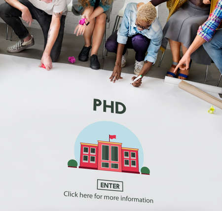 philosophy: PHD Doctor of Philosophy Knowledge Education Concept Stock Photo