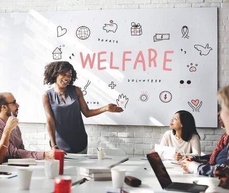 welfare: Welfare Donations Charity Foundation Support Concept