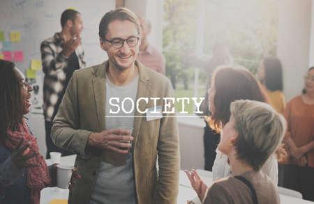 socialization: Society Socialize Community Connection Group Concept