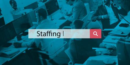 manpower: Staffing Manpower Job Recruitment Employee Workforce Concept