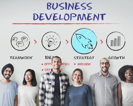 Business Development Plan de croissance Stratégie Concept