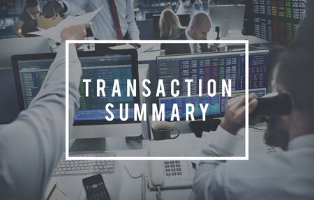 labelling: Transaction Summary Finance Business Operation Concept