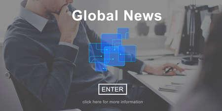 news online: Global News Online Technology Update Information Concept