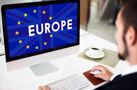 Britain EU Brexit Referendum Concept Stock Photo