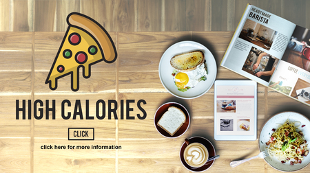 the calories: Calories Junk Food Unhealthy Obesity Concept Stock Photo