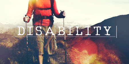incapacitated: Disability Handicap Crippled Incapacitated Paralyzed Concept