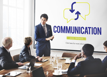 Communication concept in meeting room Stock fotó