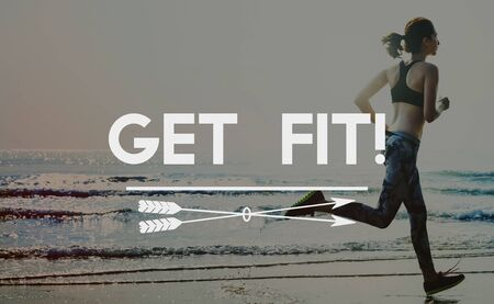 Get Fit Exercise Fitness Physical Training Workout Concept 免版税图像