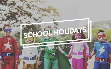 spring break: School Holidays End of Semester Freedom Spring Break Concept Stock Photo