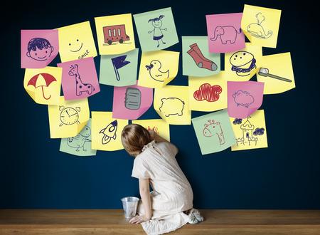 elementary age: Preschool Art Doodles Creativity Concept
