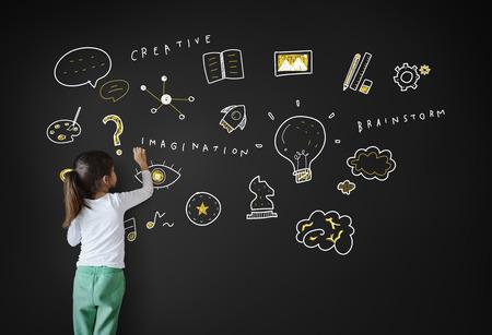 Создание Идеи Light Буле Воображение Концепция развития искусства