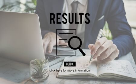 discovery: Results Research Investigation Discovery Concept Stock Photo
