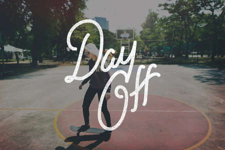 off day: Holiday Day Off Carefree Relaxation Vacation Concept