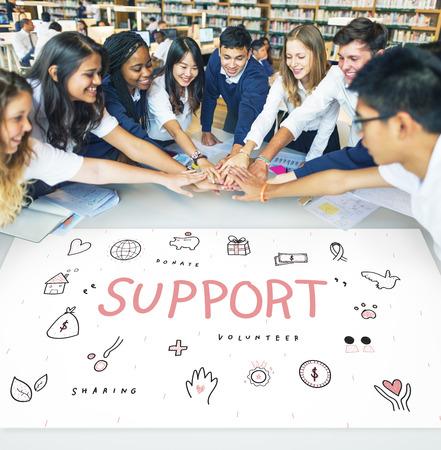 Support Donations Charity Foundation Concept Reklamní fotografie