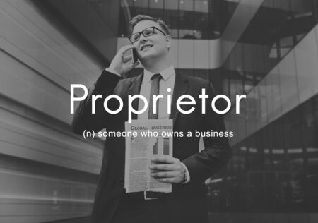 proprietor: Proprietor Business Owner Founder Chairman Management Concept