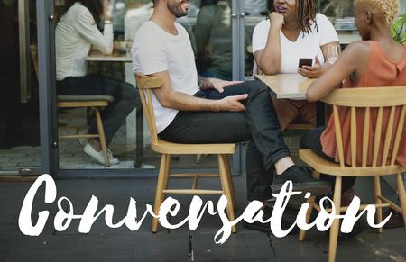 Conversazione Comunicazione Collegare Concetto Significato Archivio Fotografico